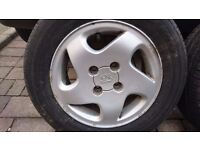2 Peugeot 306 Harrier Alloys with Khumo Solus tyres 185/65 R14