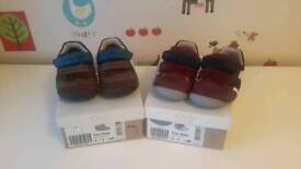 Clarks boys first shoes (Size 4f)