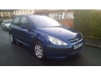 2003 PEUGEOT 307 1.4 HDI LX DIESEL 30 POUND ROAD TAX FULL YEAR MOT PART EXCHANGE WELCOME FOCUS ASTRA