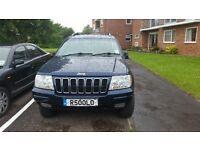 Jeep Grand Cherekee petrol and lpg cheap to run (2002)