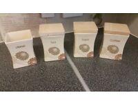 Set of Kitchen Storage Jars (tea, coffee, sugar and utensil jar) with airtight lids