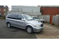 7 Seats Diesel Kia Sedona with 12 months mot , twin sliding doors ,BUILT IN DVD PLAYER , px welcome