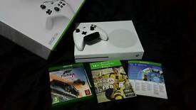 Xbox one s 500gb with many extras. (See description below)