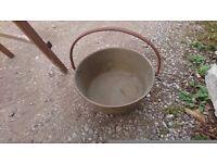 brass preserving pan, heavy