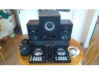 Pioneer ddj SR + studio speakers