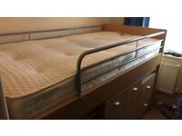 Excellent condition wooden High sleeper study beD