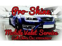 Pro-Shine Mobile Valet Service