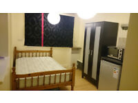 Furnished room with kitchen corner with washing machine and en-suites shower/toilet room to rent