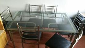 Expensive Harvey's classy dining table with chairs 6 seater cheap bargain look