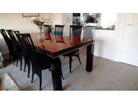 An Italian three piece dining room suite.