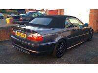 BMW 320 ci Convertible M-Sport, 2003, Grey, 2.0 Petrol, 10 MONTHS MOT, Taxed