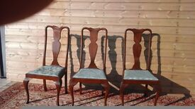Antique queen anne chairs