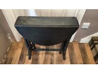 Antique Drop Leaf Table with Original Wheeled Casters - Upcycle Project