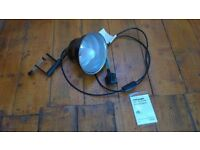 Photographic lamp with mini clamp and shade