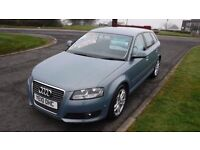 AUDI A3 2.0 SPORTBACK TDI SPORT AUTO,2010,Alloys,Cruise Control,Parking Sensors,1 Owner,Full History
