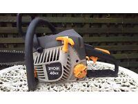 Ryobi 40cc petrol chainsaw 18 inch bar