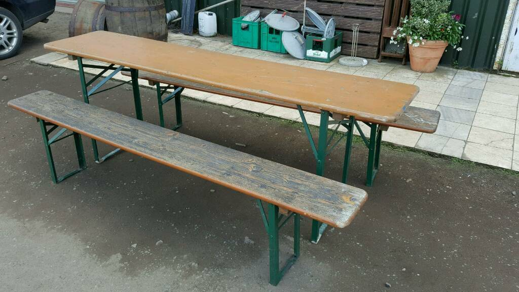 German beer garden table   benches. German beer garden table   benches   in Newburgh  Fife   Gumtree