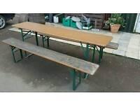 German beer garden table & benches
