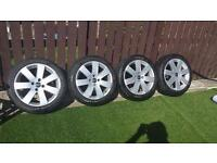 "Ford 17"" alloys nearly new tyres"