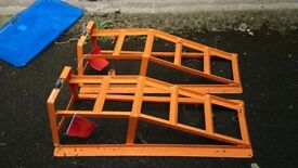 Brand new set of car ramps