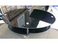 Coffee table glass black gloss
