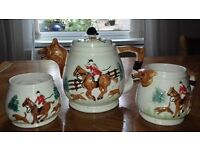 Hunting scene Tea Pot, Milk Jug & Sugar bowl £20 the set