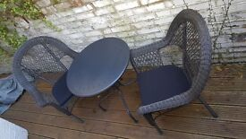 Garden / patio chairs and table (Ikea) - near perfect condition