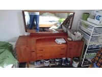 Dresser with drawers and mirror