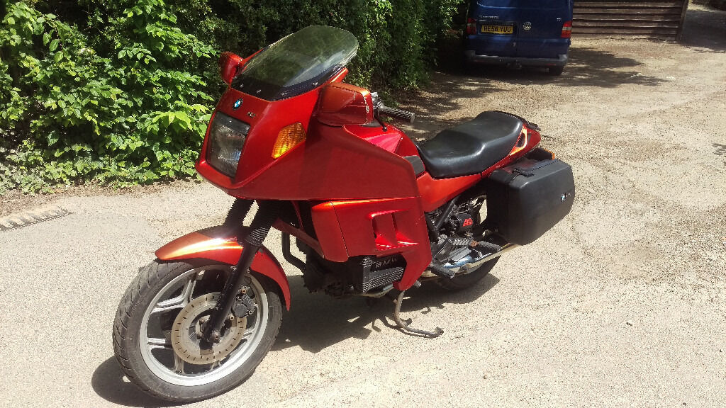bmw k75 k75rt touring motorcycle abs red fairing panniers mot april 2018 in woking. Black Bedroom Furniture Sets. Home Design Ideas