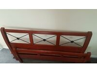 Good quality wood and metal King Size Bed for Sale - will take offers!