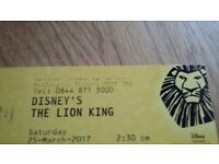 The Lion King theatre tickets with hotel and coach