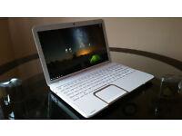 White Toshiba Satellite L850D 15.6'' Laptop 6GB RAM 750GB HDD with Windows 10