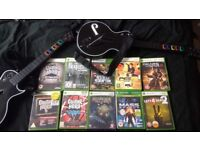 XBOX360 games and controllers - Guitar Hero, Red Dead Redemption etc