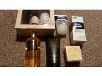 Gift for him - 6 male products, a beard care kit, face wash and lotion for him and body wash/lotion