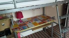 Let bed single bed metal bed silver bed