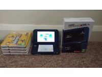 Nintendo 3DS XL Metallic Blue - Excellent Condition - Includes 4 Games and USB Charger