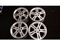 """Genuine 16"""" Mercedes AMG Alloy Wheels x4 - 7.5Jx16 With Centre Caps"""