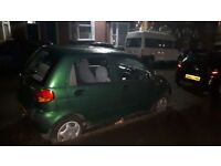 DAEWOO MATIZ GREEN (NON STARTER,MOT OCTOBER 18)