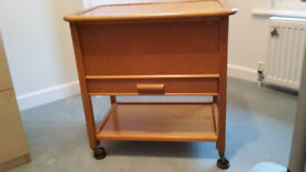Vintage sewing trolley in good condition with very useful storage