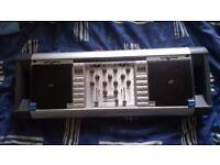 HomeMix Portable CDJ CD Decks (Mixer, Turntables & Amp in One)