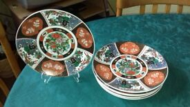 set of 6 decorative Chinese plates