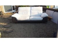 Leather sofa, reclining head rests