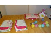 Girl's Bedroom Linen and matching accessories