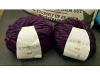 Sold pending collection - Knitting crochet two balls rowan drift merino wool chunky knitting yarn