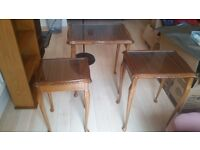 3 living room tables+bookcase+bookshelves+ folding tables+ study disk+ 3 chairs (URGENT SELLING)