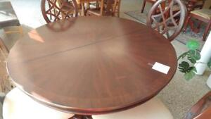 Elegant Round Dining Table and Four Chairs