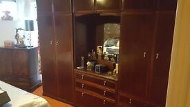 Set of two wardrobes and chest of drawers