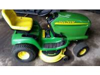 "John deere ride on mower 42"" mulching"