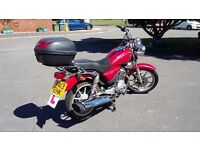*Reduced Price* Yamaha YBR Custom 2013 - 125cc - Red - MOT due Aug 2017