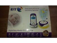 BT digital baby monitor 350 lightshow